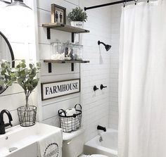 Your restroom decoration is most likely the most neglected in the home. It gets the least quantity of attention because it's not visible for all to see when they enter your home. Bathroom Wall Decor, Bathroom Signs, Bathroom Styling, Bathroom Storage, Bathroom Interior, Bathroom Ideas, Bathroom Cabinets, Bathroom Organization, Bathroom Inspiration