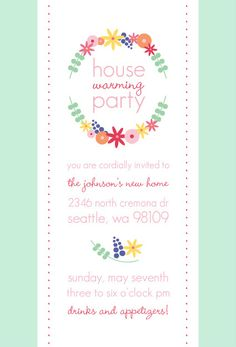 Consider For Housewarming Invites  Celebrations