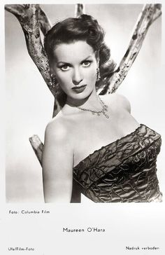 https://flic.kr/p/zWHtNq | Maureen O'Hara (1920-2015) | Dutch postcard by Gebr. Spanjersberg N.V., Rotterdam, no. 2028. Photo: Columbia Film / Ufa. Last, Saturday, Irish born Maureen O'Hara, one of the icons of Hollywood's Golden Age, has died. The feisty and fearless actress starred in John Ford's Oscar-winning drama How Green Was My Valley (1941), set in Wales, and Ford's Irish-set The Quiet Man (1952) opposite John Wayne. The famously red-headed actress also worked successfully with Ch...