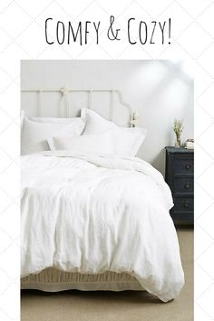 Romantic and luxurious bedding! So cozy looking