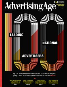 Advertising Age print cover of 100 leading national advertisers