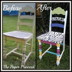 the paper princess: PAINTED CHAIR