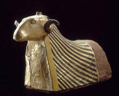 The ram-headed god Khnum, Late Period (664-332 BC), Elephantine