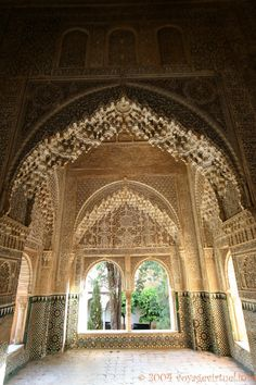 Islamic art from Alhambra Palace, Andalucia, Spain Granada Andalucia, Granada Spain, Cordoba Spain, Islamic Architecture, Art And Architecture, Wonderful Places, Beautiful Places, Alhambra Spain, Grenade