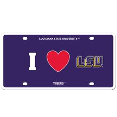 """Checkout our #LicensedGear products FREE SHIPPING + 10% OFF Coupon Code """"Official"""" LSU Tigers Styrene License Plate - Officially licensed College product    LSU Tigers - Price: $16.00. Buy now at https://officiallylicensedgear.com/lsu-tigers-styrene-license-plate-cslph43"""