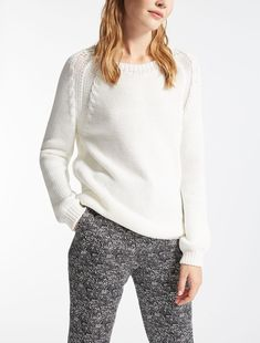 Max Mara BERBICE milk: Cotton sweater.