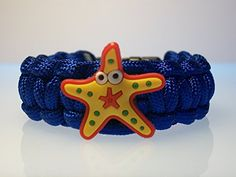 FUN DESIGN Paracord Bracelet YELLOW STARFISH Blue Size 6 34 USA Paracord * You can get additional details at the image link.(This is an Amazon affiliate link and I receive a commission for the sales)