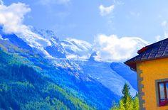 Chamonix, con los Alpes al fondo