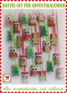 DIY Bastel-Set DIY-Kit Adventskalender Eulen