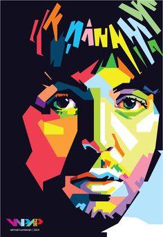 I just Love Paul Pop Art Portraits, Portrait Art, Beatles Art, The Beatles, Potrait Painting, Pop Art Artists, Rock Band Logos, Vintage Concert Posters, Vector Pop