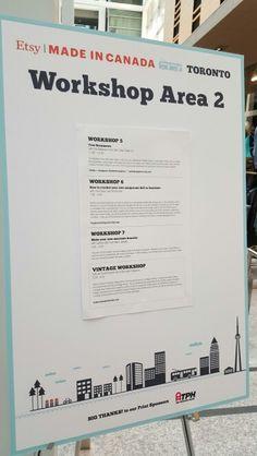 #Etsymictoronto Toronto, Boarding Pass, Workshop, Canada, How To Make, Etsy, Atelier, Work Shop Garage