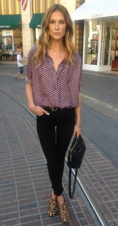 Erin Wasson. Love the contrast of the shoes and ...