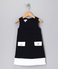 Take a look at this Navy & White Pique Dress - Toddler & Girls by Fourth of July Boutique on #zulily today!