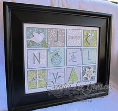 This would be cool to do as a baby gift and be themed for a new baby! All is Calm Wall Art by Wendy Lee, christmas, home decor, Stampin' Up! Noel Christmas, Christmas Projects, Handmade Christmas, Holiday Crafts, 3d Paper Crafts, Paper Art, Paper Collages, Frame Crafts, Scrapbook Cards