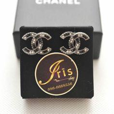 ต่างหู Chanel Earrings CC Crystal RHW ของใหม่พร้อมส่ง‼️ - Iris Shop