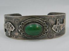 Buffalo Turquoise Fred Harvey Era bracelet