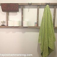 Upcycled Ladder   Bathroom organization DIY If you are anything like m… :: Hometalk