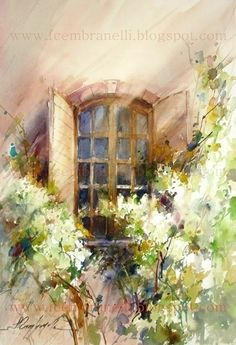 Fábio Cembranelli - A Painter's Diary: Oppède-le-Vieux 2 I need something beautiful like this in my life right now Art Watercolor, Watercolor Landscape, Watercolor Architecture, Wow Art, Artist Gallery, Beautiful Paintings, Painting Inspiration, Painting & Drawing, Art Photography
