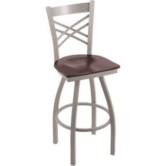 "Holland Bar Stool Catalina 25"" Swivel Bar Stool Base Finish: Stainless, Upholstery: Medium Oak"