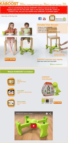 Kaboost. Raise any chair to boost your toddler