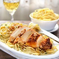 Garlic Butter Spaghetti and Chicken