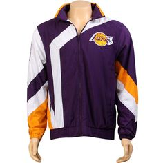 Mitchell And Ness Los Angeles Lakers One On One Windbreaker Jacket (purple) 6027A-302 - $124.99