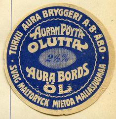 #olut #beer #labels #etiketit #Aura #pöytäolut #Turku Beer Labels, Beer Coasters