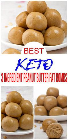 These easy 3 Ingredient Peanut Butter Keto Fat Bombs Recipe are a perfect small treat, keto desserts or keto breakfast fat bomb! Kirb your sweets craving with a low carb fat bomb - peanut butter fat bombs or make into mini bite fat bombs for ketogeni Ketogenic Diet Meal Plan, Keto Meal Plan, Ketogenic Recipes, Low Carb Recipes, Diet Menu, Easy Recipes, Vegetarian Recipes, Zoodle Recipes, Ketosis Diet