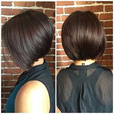 long layer Love Layered hairstyles for long hair? wanna give your hair a new look? Layered hairstyles for long hair is a good choice for you. Here you wiHair Stacked Bob Hairstyles for Fine Hair Best Bob Haircuts, Stacked Bob Hairstyles, Short Haircuts, 2018 Haircuts, Haircut Short, Swing Bob Haircut, Haircuts For Fat Faces, Double Chin Hairstyles, Haircut 2017