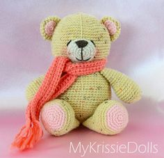 Crochet Forever Friends bar - MyKrissieDolls; how cute is this thing.  Look at its little pink cheeks!