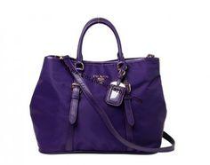 2013 Cheap Prada Fall Winter-Prada Canvas tote in purple bn1811