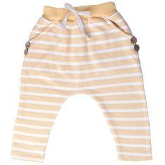 Yellow Hip Striped Harem Pants