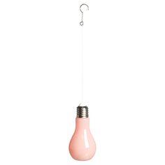 Glazen decoratielamp voor zowel binnen als buiten. Kleur: roze. 19 cm hoog. Verkrijbaar in diverse kleuren. #tuin #tuinverlichting #KwantumLente