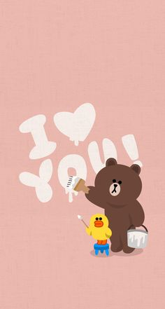 tap image for more valentine's messages & quotes! Lines Wallpaper, Brown Wallpaper, Bear Wallpaper, Cute Wallpaper For Phone, Kawaii Wallpaper, Cute Wallpaper Backgrounds, Cute Wallpapers, Iphone Wallpaper, Couple Wallpaper