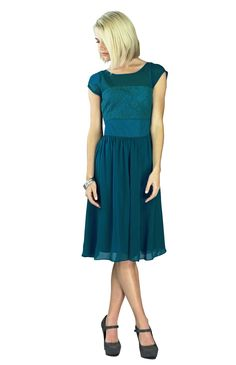 modest dresses  | Modest Dresses: Isabel in Deep Ocean Blue