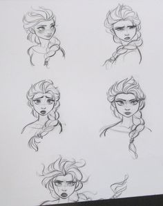 Disney Frozen concept art Elsa
