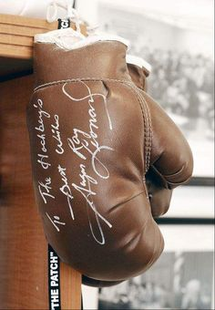 Collecting sports memorabilia for profit — and fun  an antique boxing glove