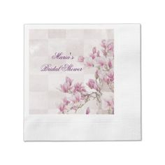 #createyourown #customize - #Pink and White Floral Bridal Shower Custom Napkin