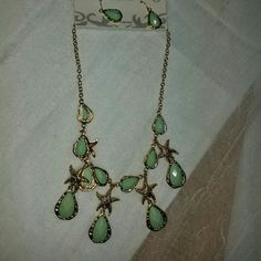 NWT Summer must beach themed jewelry set Necklace and earring set is so cute for your summer outfits! Jewelry Necklaces