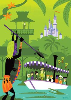"""We're wild for this SHAG Disneyland Resort Diamond Celebration inspired piece titled """"A Perilous Adventure""""! Get yours today at Wonderground Galley in Downtown Disney!"""