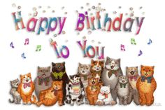 Happy_birthday Geburtstag GIF - Tenor GIF Keyboard - Bring Personality To Your Conversations Happy Birthday Pat, Singing Birthday Cards, Birthday Songs, Happy Birthday Quotes, Cat Birthday, Happy Birthday Images, Happy Birthday Greetings, Birthday Messages, Birthday Pictures