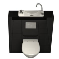 wc suspendu design avec lave main wici bati http www. Black Bedroom Furniture Sets. Home Design Ideas