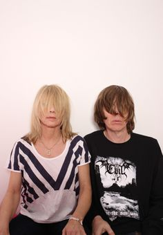 Kim and Thurston Moore. Used to wish they were my rock 'n roll parents.  Photo by Ari Marcopoulos
