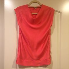 Dressy Top Orange reddish short sleeve blouse- in excellent condition- worn twice Tops Blouses