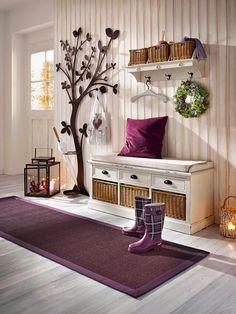 hall-d-entree-maison-deco-prune. Decor, House Styles, House Design, Interior, Home Decor, House Interior, Room Decor, Hallway Decorating, Home Deco