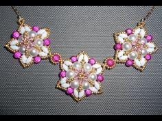 Fuchsia Fantasy Necklace by Ezeebeady  ~ Seed Bead Tutorials