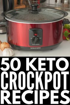 50 Keto Crockpot Recipes! | We're sharing 50 low carb, ketogenic diet approved easy dinners you can make in your crock pot! Whether you prefer chicken, beef, pork, ground turkey, roasts, soups, chilis…we've got delicious and healthy keto recipes to add to your weekly meal plan. Some are grain free, some are dairy free…who says being on the keto diet has to be boring?! #keto #ketogenic #ketosis #ketodiet #ketogenicdiet #ketorecipes #ketocrockpotrecipes #weightloss