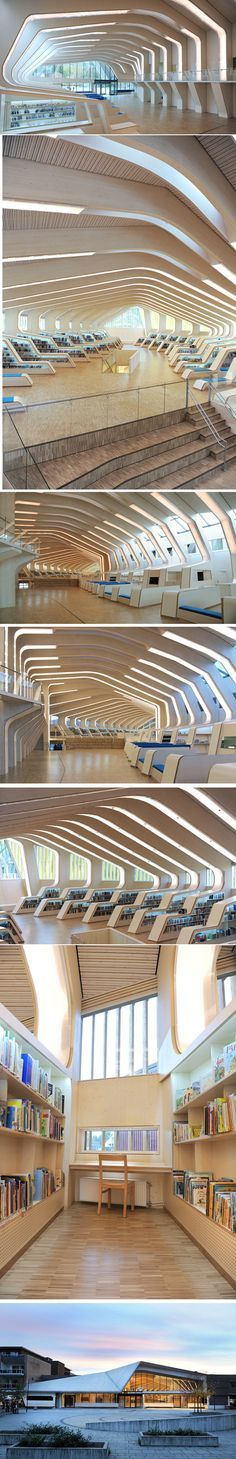Vennesia library and cultural center - Norway #InteriorDesign, #InteriorDecor, Accenthaus.com