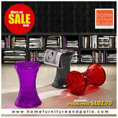 Zuo Modern Prisma Stool in Transparent Red - On SALE!