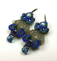 Antic earrings soutache braid Romance